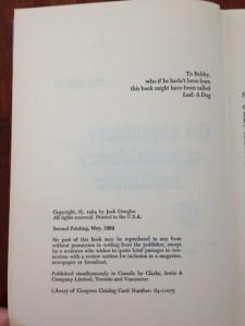 douglas title page